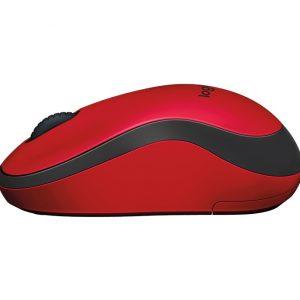 Logitech M221 Silent Wireless Mouse สีแดง ประกันศูนย์ 1ปี ของแท้ เสียงคลิกเบา