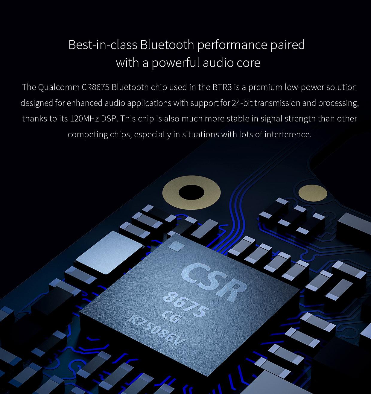 FiiO BTR3 Bluetooth 5.0 Portable Headphone Amplifier DAC/AMP สีดำ รองรับอุปกรณ์ iOS Android ของแท้ ประกันศูนย์ 1ปี
