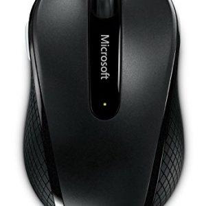 Microsoft Wireless Mobile Mouse 4000 USB BlueTrack สีดำ ประกันศูนย์ 3ปี ของแท้ เมาส์ไร้สาย (Black)