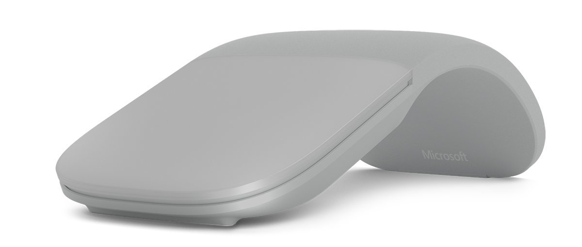 Microsoft Arc Touch Bluetooth Mouse เมาส์ไร้สาย สีเทา ของแท้ ประกันศูนย์ 3ปี (Light Grey)