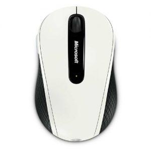 Microsoft Wireless Mobile Mouse 4000 USB BlueTrack สีขาว ประกันศูนย์ 3ปี ของแท้ เมาส์ไร้สาย (White)
