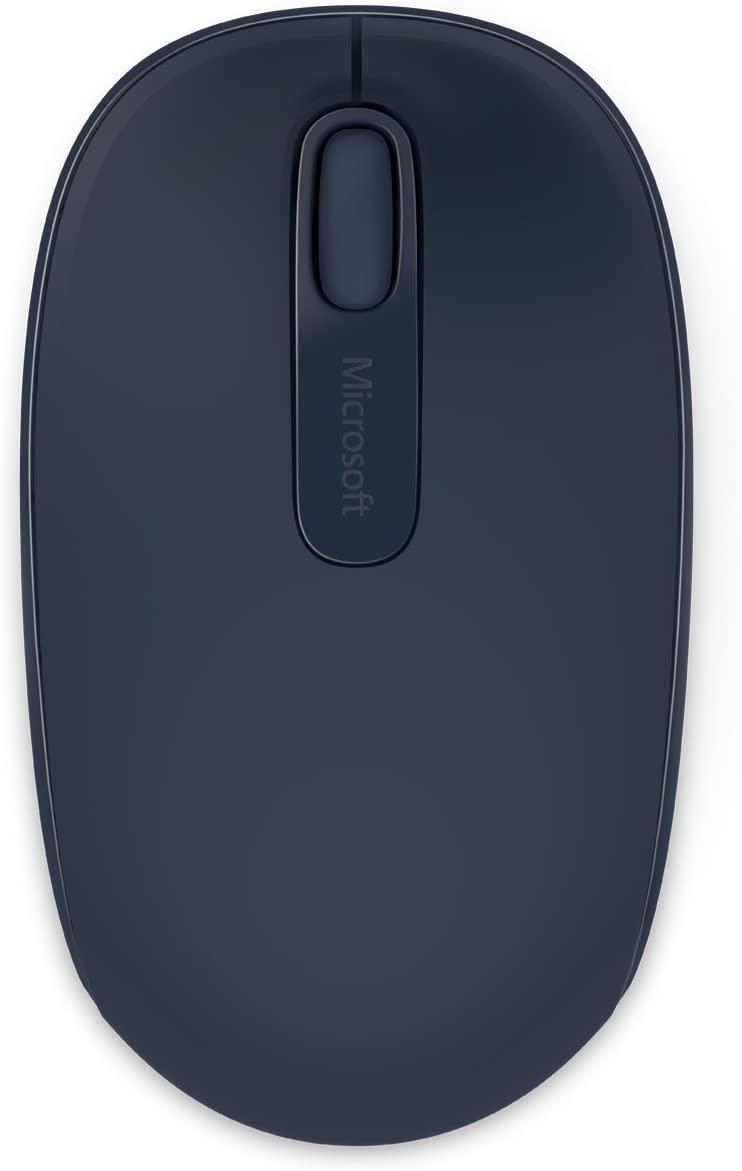 Microsoft Wireless Mouse 1850 เมาส์ไร้สาย สีฟ้าเข้ม ของแท้ ประกันศูนย์ 3ปี (Wool Blue)