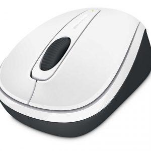 Microsoft Wireless Mobile Mouse 3500 สีขาว ประกันศูนย์ 3ปี ของแท้ เมาส์ไร้สาย (White)
