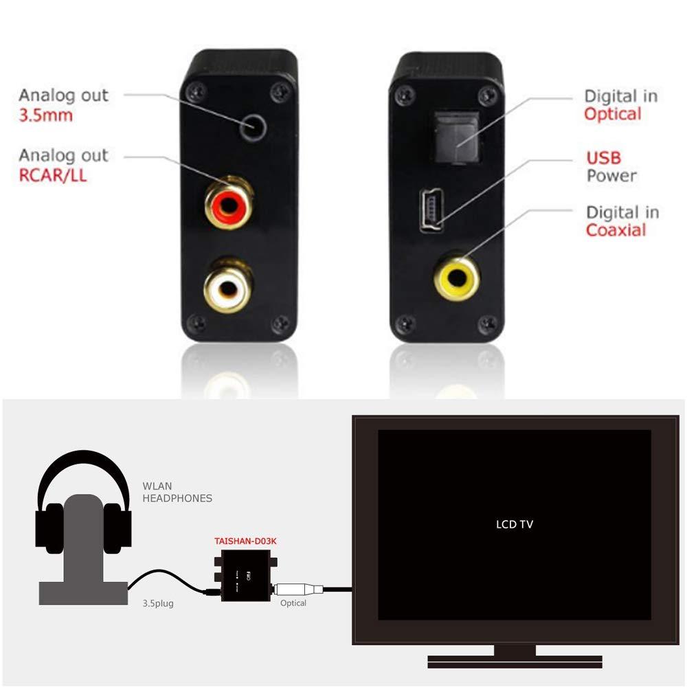 FiiO D03K Digital to Analog Audio Converter ตัวแปลงสัญญาณ - Optical / Coaxial เป็น RCA และ 3.5mm ของแท้ ประกันศูนย์ 1ปี