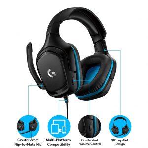 Logitech G431 Surround 7.1 Gaming Headset ประกันศูนย์ 2ปี ของแท้ หูฟังสำหรับเล่นเกมแบบมีสายระบบเซอร์ราวด์ 7.1
