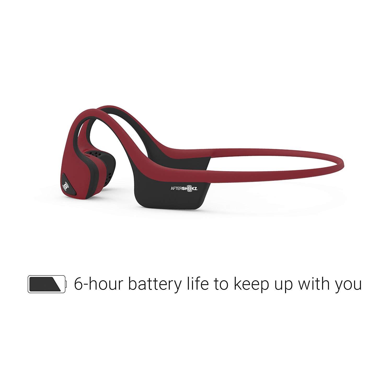 Aftershokz Trekz Air ของแท้ ประกันศูนย์ 2ปี หูฟังออกกำลังกาย Bluetooth สีแดง (Canyon Red)