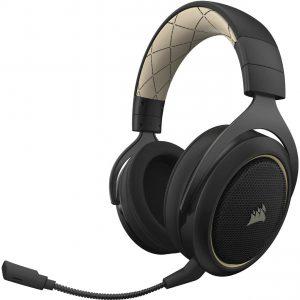 Corsair HS70 Wireless 7.1 Virtual Surround Gaming Headset สีขาว ประกันศูนย์ 2ปี ของแท้ หูฟังสำหรับเล่นเกม (White)