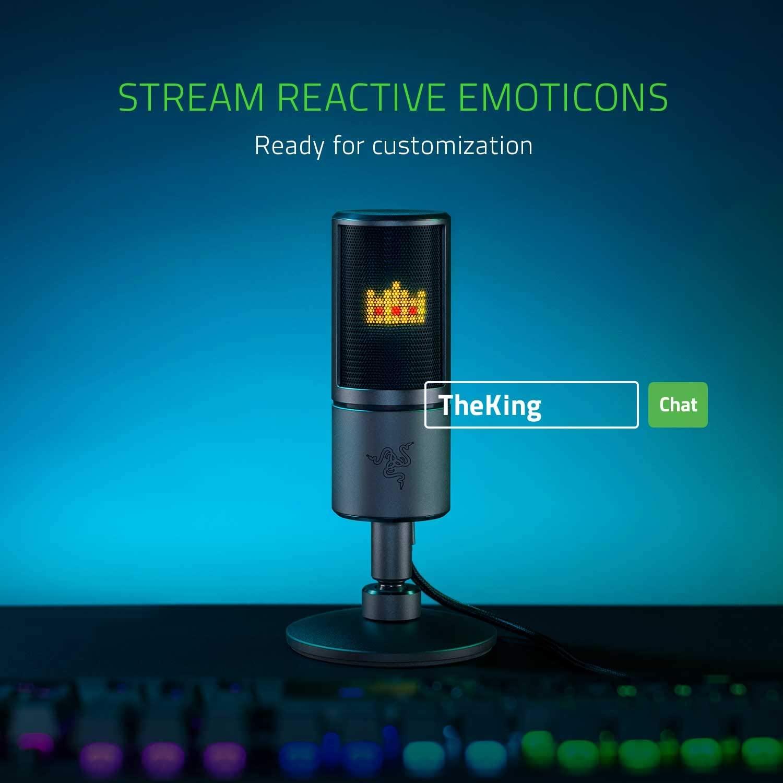 Razer Seiren Emote Gaming Broadcaster Microphone ของแท้ ประกันศูนย์ 1ปี ไมโครโฟน