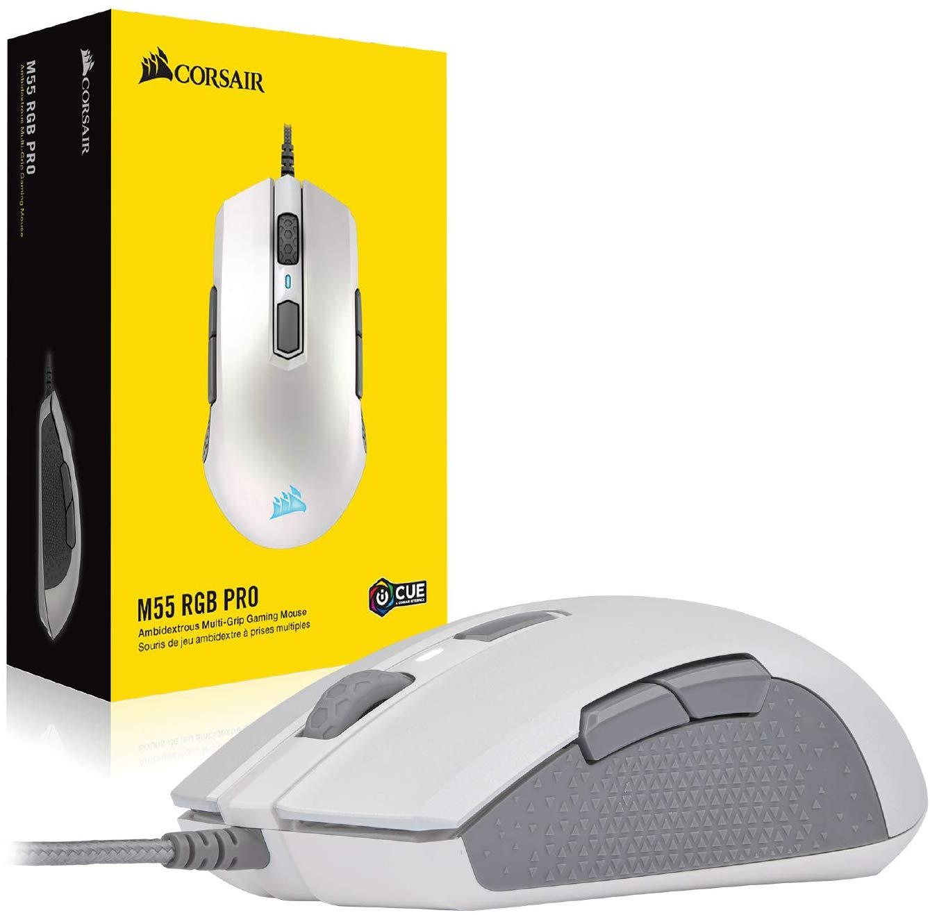 Corsair M55 RGB Pro Wired Gaming Mouse ของแท้ ประกันศูนย์ 2ปี (White)