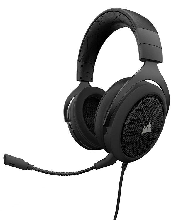 Corsair HS50 Pro Stereo Gaming Headset สีดำ ประกันศูนย์ 2ปี ของแท้ หูฟังสำหรับเล่นเกม (Black)