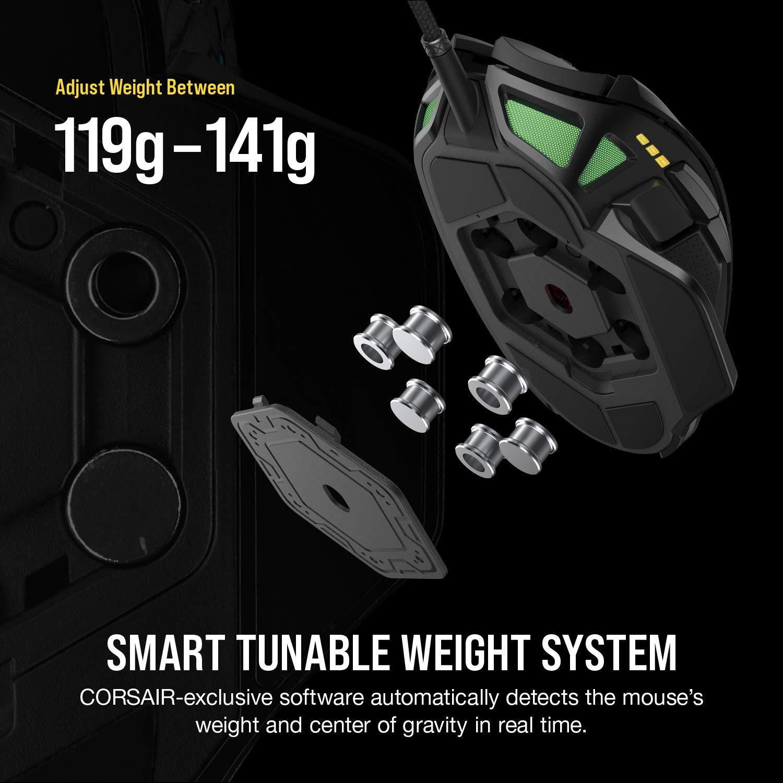 Corsair Nightsword RGB Tunable FPS / MOBA Gaming Mouse ประกันศูนย์ 2ปี ของแท้ เมาส์เล่นเกม ไร้สาย