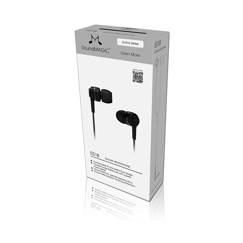 Soundmagic ES18 หูฟัง In-Ear Noise Isolating สีดำ ของแท้ ประกันศูนย์ 1ปี (Black)