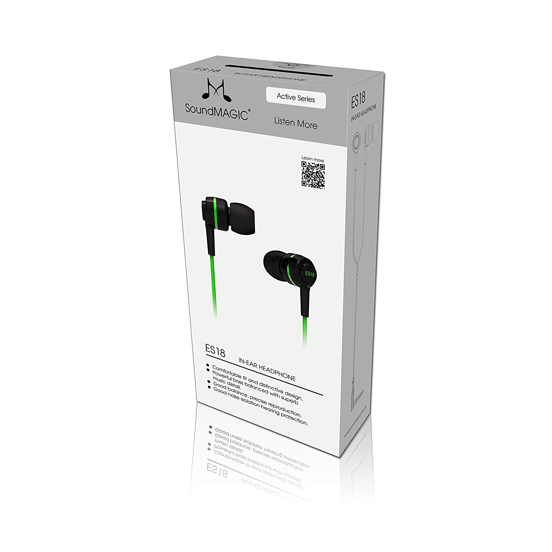 Soundmagic ES18 หูฟัง In-Ear Noise Isolating สีเขียว ของแท้ ประกันศูนย์ 1ปี (Green)