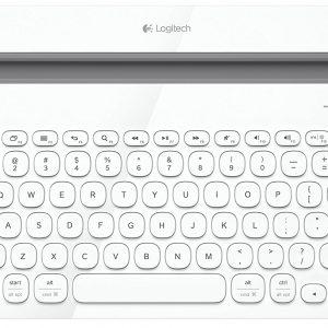 Logitech K480 Multi-Device Bluetooth Keyboard แป้นภาษาไทย/อังกฤษ ของแท้ ประกันศูนย์ 1ปี คีย์บอร์ด ไร้สาย (White)