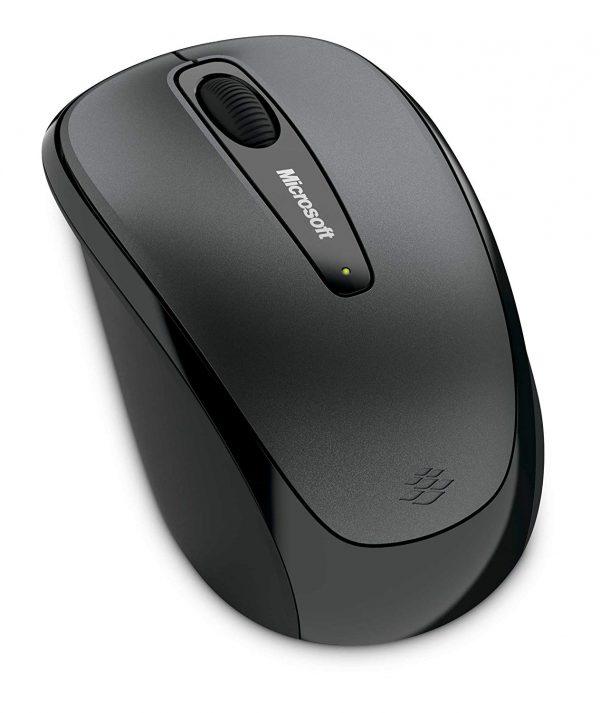 Microsoft Wireless Mobile Mouse 3500 สีเทา ประกันศูนย์ 3ปี ของแท้ เมาส์ไร้สาย (Grey)