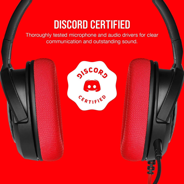 Corsair HS35 Stereo Gaming Headset สีแดง ประกันศูนย์ 2ปี ของแท้ หูฟังสำหรับเล่นเกม (Red)
