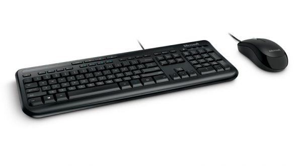 Microsoft Wired Desktop 600 - Keyboard and Mouse แป้นภาษาไทย/อังกฤษ ของแท้ ประกันศูนย์ 3ปี เมาส์และคีย์บอร์ด