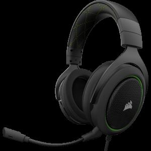 Corsair HS50 Pro Stereo Gaming Headset สีเขียว ประกันศูนย์ 2ปี ของแท้ หูฟังสำหรับเล่นเกม (Green)