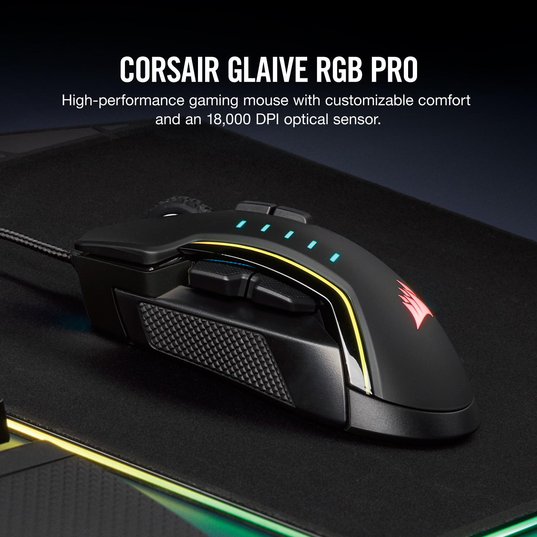 Corsair Glaive PRO RGB Gaming Mouse ประกันศูนย์ 2ปี ของแท้ เมาส์เล่นเกม