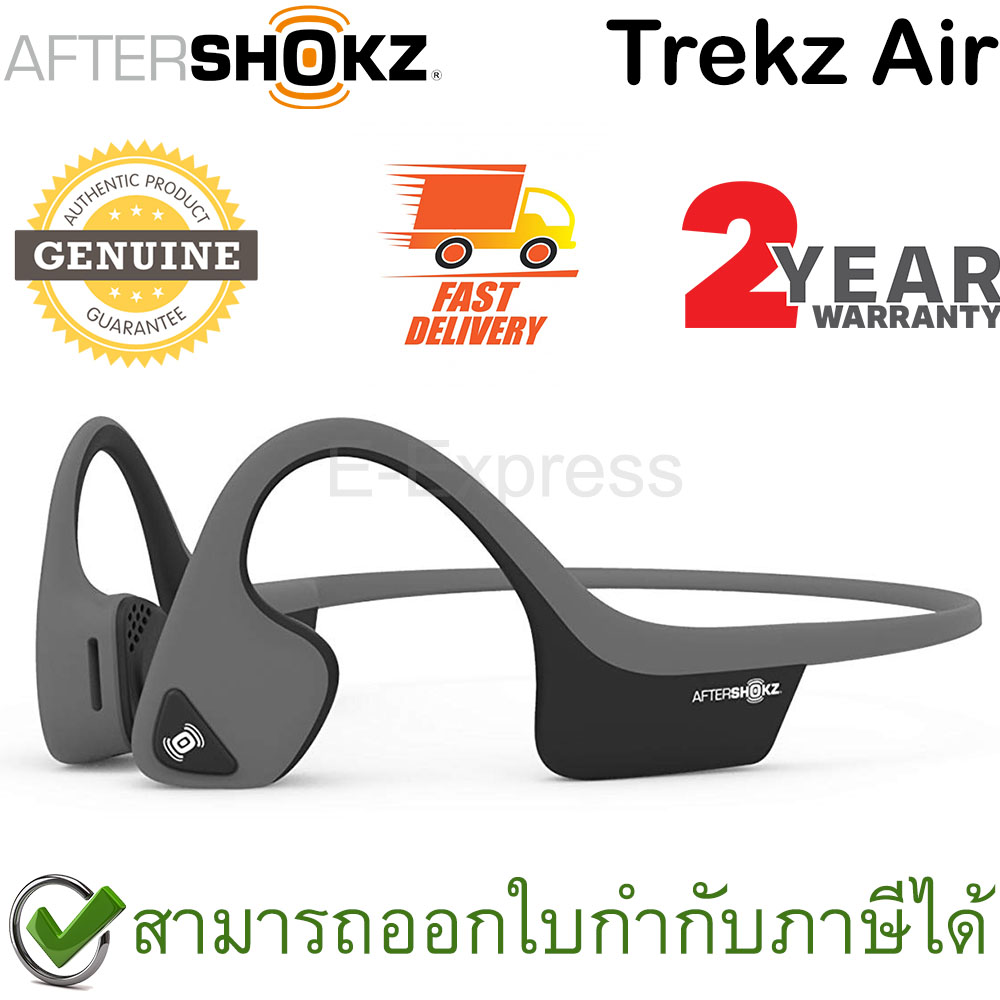 Aftershokz Trekz Air ของแท้ ประกันศูนย์ 2ปี หูฟังออกกำลังกาย Bluetooth สีเทา (Slate Grey)