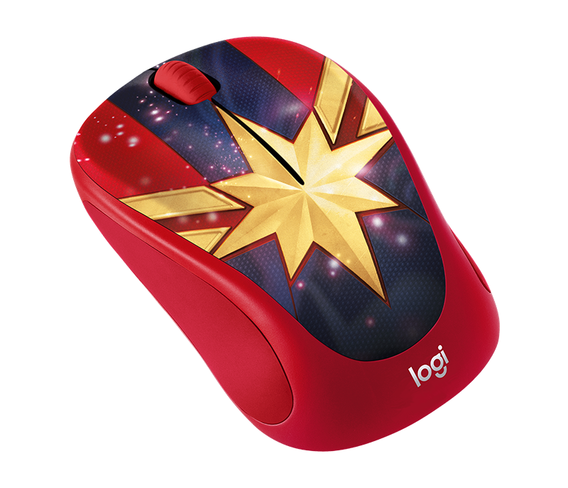 Logitech M238 Marvel Collection Wireless Mouse Captain Marvel ลายกัปตันมาร์เวล ลิขสิทธิ์แท้ ประกันศูนย์ 1ปี ของแท้