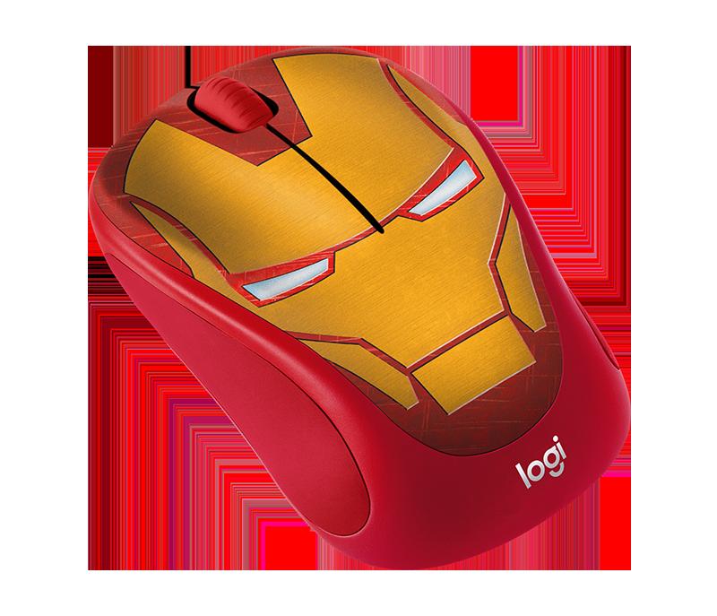 Logitech M238 Marvel Collection Wireless Mouse Iron Man ลายไอรอนแมน ลิขสิทธิ์แท้ ประกันศูนย์ 1ปี ของแท้