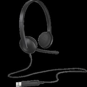Logitech H340 USB Headset ประกันศูนย์ 2ปี ของแท้ หูฟัง