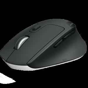 Logitech M720 TRIATHLON Multi-device Wireless / Bluetooth Mouse สีดำ ประกันศูนย์ 1ปี ของแท้