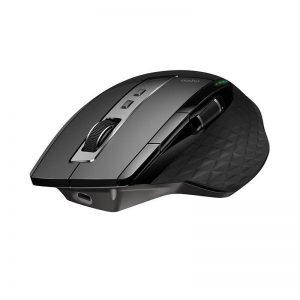 Rapoo MT750s Rechargeable Multi-mode Wireless Mouse Bluetooth 3.0/4.0 2.4Ghz สีดำ ประกันศูนย์ 2ปี ของแท้ (Black)