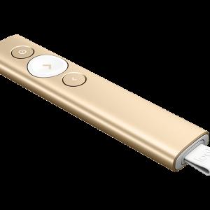 Logitech Spotlight Wireless Presenter Laser Pointer - Gold (สีทอง) ประกันศูนย์ 1ปี ของแท้