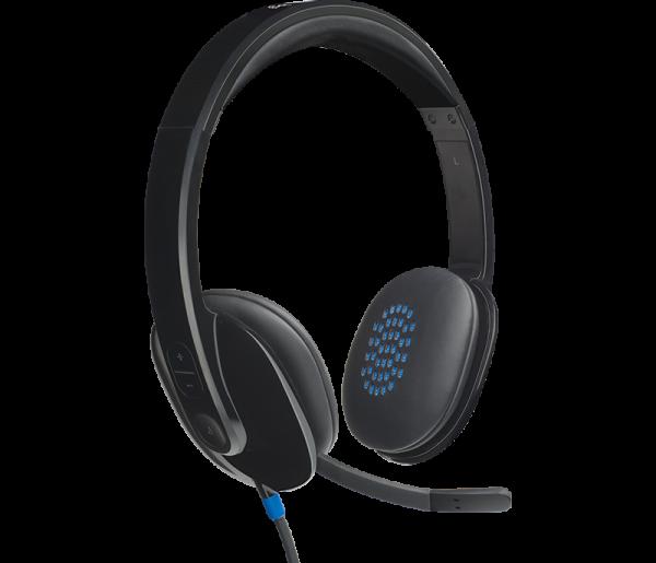 Logitech H540 USB Headset ประกันศูนย์ 2ปี ของแท้ หูฟัง