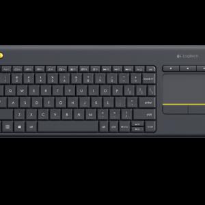 Logitech Wireless Touch Keyboard K400 Plus สีดำ แป้นภาษาไทย/อังกฤษ ของแท้ ประกันศูนย์ 1ปี คีย์บอร์ด ไร้สาย - BLACK